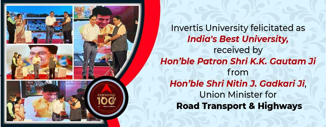 Invertis University, Bareilly, Best College, University Awards and Recognisation