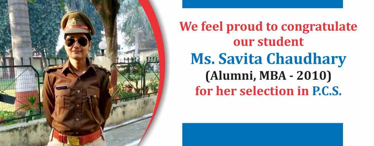 Proud Invertians, Alumini Savita Chaudhary, MBA College, Bareilly